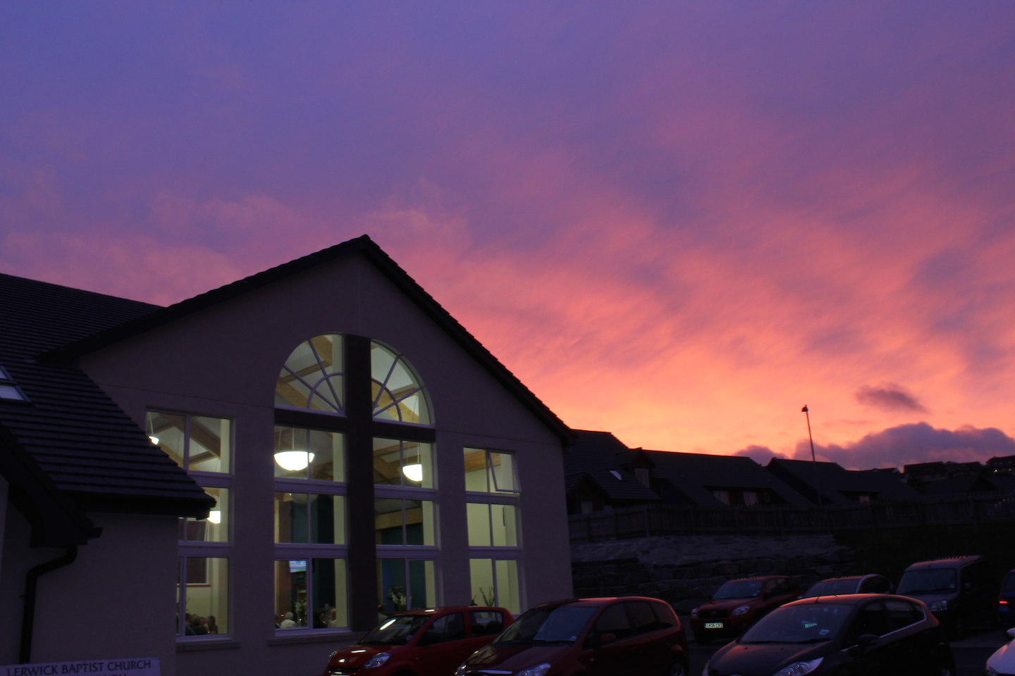 lerwick-baptist-church-sunset