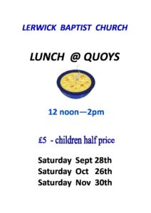 Lunches @ Quoys