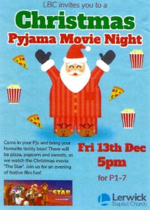 Christmas Pyjama Movie Night