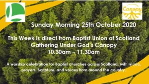 Online Sunday Service 25th October 2020