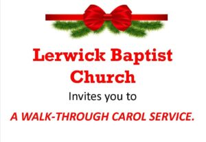 A WALK-THROUGH CAROL SERVICE